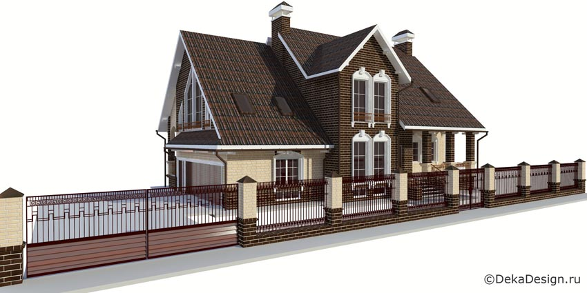 Дизайн кухни для коттеджей